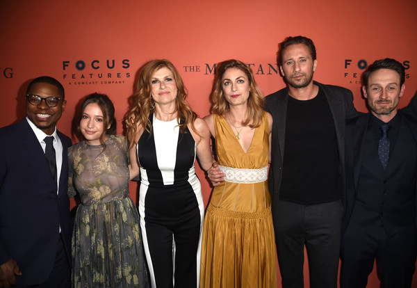 Premiere Of Focus Features' 'The Mustang' - Red Carpet [the mustang,event,fashion,premiere,fashion design,performance,laure de clermont-tonnerre,connie britton,jason mitchell,gideon adlon,l-r,arclight hollywood,focus features,red carpet,premiere]