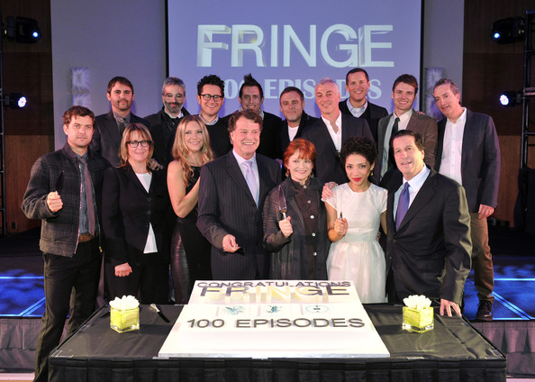 """Fringe"" Celebrates 100 Episodes And Final Season [episodes,season,event,team,company,employment,management,roberto orci,kathy lingg,alex kurtzman,j.h.,producerj.j. abrams,reid shane,l-r,fringe]"