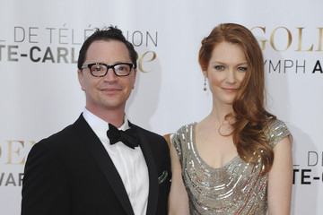 Joshua Malina Darby Stanchfield Arrivals at the Monte Carlo TV Festival's Closing Ceremony