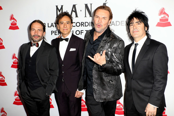 The Latin Recording Academy's 2018 Person Of The Year Gala Honoring Mana - Red Carpet [event,premiere,suit,carpet,red carpet,tuxedo,alex gonzalez,fher olvera,juan calleros,sergio vallin,red carpet,l-r,latin recording academy,mana,gala,person of the year]