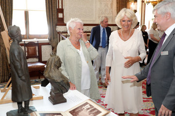 Judi Dench The Duchess Of Cornwall Visits The Isle Of Wight