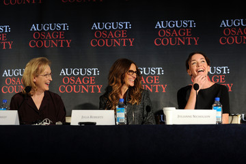 Julia Roberts Julianne Nicholson 'August: Osage County' Press Conference in NYC