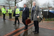 Julian Assange (R), the founder of the Wikileaks whistle blowing website, arrives with his lawyer Mark Stephens (C) at Belmarsh Magistrates' Court on January 11, 2011 in London, England. Mr Assange is expected to find out the date of his full extradition hearing to Sweden where he is wanted on sexual offence allegations.