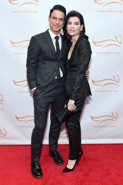 2019 A Funny Thing Happened On The Way To Cure Parkinson's - Arrivals [a funny thing happened on the way to cure parkinson,suit,clothing,carpet,red carpet,formal wear,tuxedo,fashion,event,flooring,premiere,arrivals,julianna margulies,keith lieberthal,happened on the way to cure parkinson,l-r,new york city,the michael j. fox foundation]