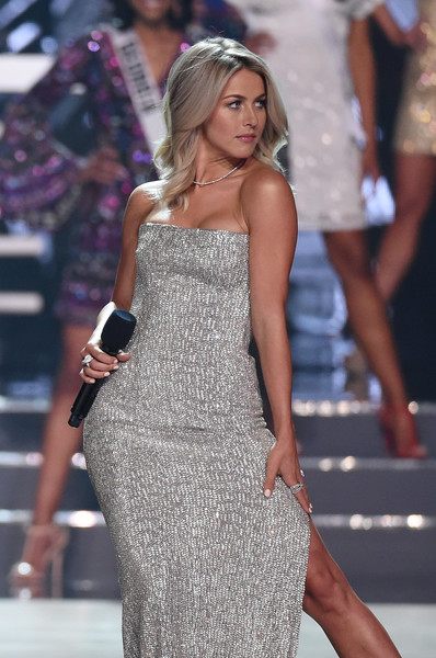 2016 Miss USA Competition - Show [fashion model,clothing,dress,fashion,shoulder,cocktail dress,lady,leg,beauty,thigh,julianne hough,actress,stage,las vegas,nevada,t-mobile arena,miss usa competition - show,pageant,miss usa]