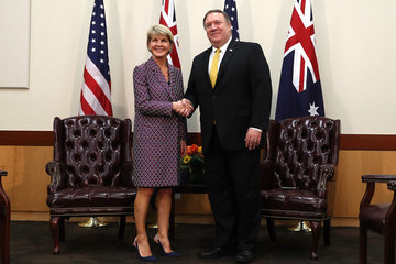 Julie Bishop Secretary Of State Pompeo And Australian Foreign Minister Hold Bilateral Meeting