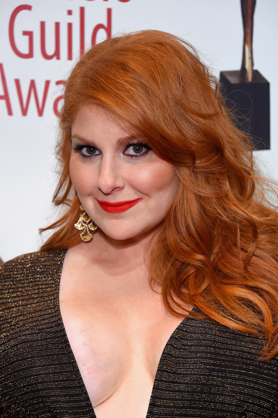 70th Annual Writers Guild Awards New York - Arrivals [hair,face,hairstyle,lip,hair coloring,red hair,blond,eyebrow,chin,beauty,arrivals,julie klausner,writers guild awards,new york,edison ballroom]