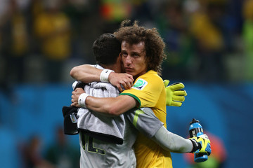 Julio Cesar David Luiz Brazil v Croatia: Group A