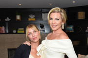 """Morgan Walsh and June Diane Raphael attend June Diane Raphael's new book release """"Represent The Woman's Guide To Running For Office And Changing The World"""" at The Jane Club on September 04, 2019 in Los Angeles, California."""