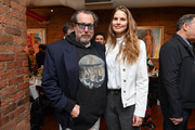 Julian Schnabel (L) and Louise Kugelberg attend the 2019 Tribeca Film Festival Jury Lunch at Tribeca Grill Loft on April 25, 2019 in New York City.