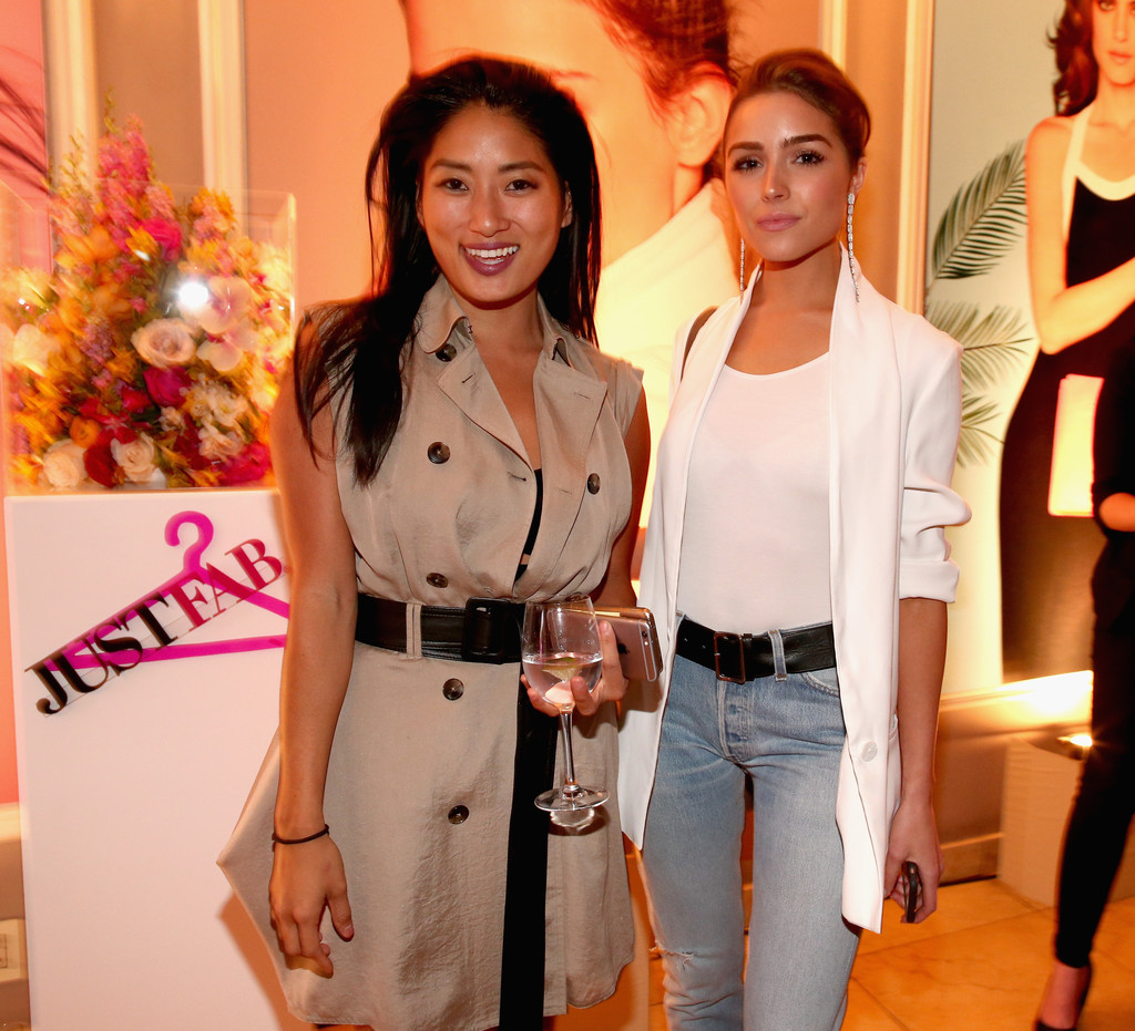 Chloe Flower and Olivia Culpo s s JustFab Celebrates Launch Re