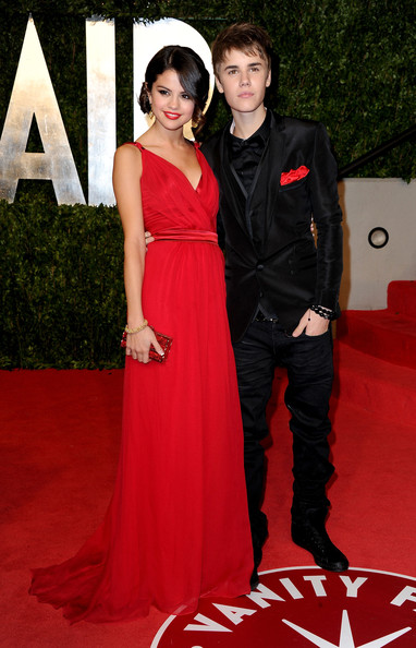 selena gomez and justin bieber vanity fair party. 2011 Vanity Fair Oscar Party