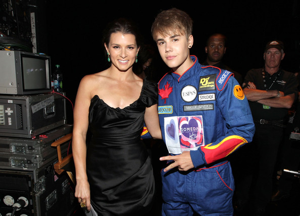 Justin Bieber Professional race car driver Danica Patrick and singer Justin Bieber attend The 2011 ESPY Awards at Nokia Theatre L.A. Live on July 13, 2011 in Los Angeles, California.
