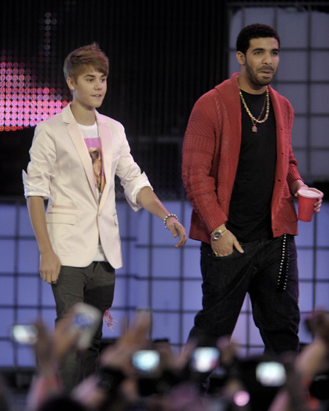 Justin Bieber Justin Bieber and Drake on stage at the 22nd Annual MuchMusic Video Awards at the MuchMusic HQ on June 19, 2011 in Toronto, Canada.