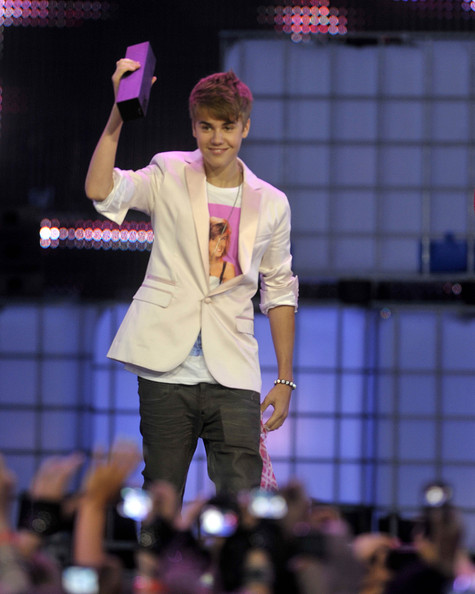 Justin Bieber Justin Bieber on stage at the 22nd Annual MuchMusic Video Awards at the MuchMusic HQ on June 19, 2011 in Toronto, Canada.