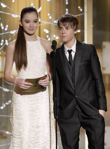 Justin Bieber and Hailee Steinfeld - 68th Annual Golden Globe Awards - Show