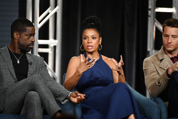 2020 Winter TCA Tour - Day 5 [this is us,fashion,sitting,conversation,interaction,event,suit,adaptation,white-collar worker,model,performance,sterling k. brown,susan kelechi watson,justin hartley,l-r,pasadena,the langham huntington,winter tca,nbcuniversal,segment,justin hartley,chrishell stause,sterling k. brown,this is us,25th screen actors guild awards,photography,los angeles,critics choice movie awards,image]