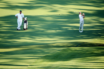 Justin Rose Mark Fulcher The Masters - Round One