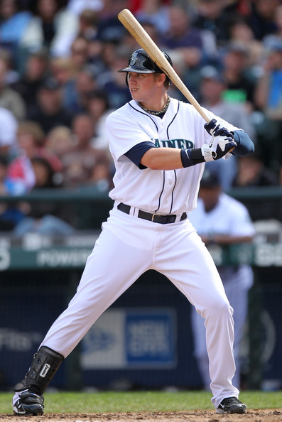 Justin Smoak - Texas Rangers v Seattle Mariners