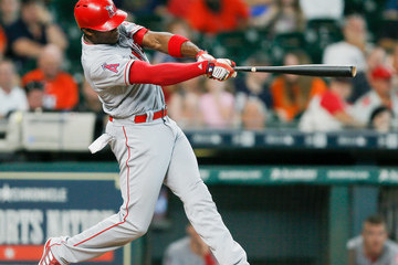 Justin Upton Los Angeles Angels of Anaheim v Houston Astros