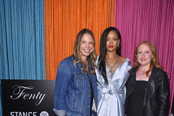 Justine Lucas Rihanna Stuns at Stance to Raise Money for Clara Lionel Foundation