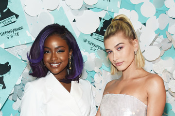 Justine Skye Hailey Bieber Tiffany & Co. Paper Flowers Event And Believe In Dreams Campaign Launch