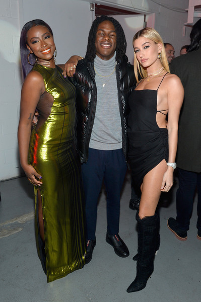 Spotify's Best New Artist Party featuring Lil Uzi Vert, SZA, Khalid, Alessia Cara and Julia Michaels held at Skylight Clarkson [clothing,fashion,dress,shoulder,fashion design,event,joint,latex clothing,premiere,little black dress,spotify,lil uzi vert,julia michaels,alessia cara,khalid,hailey baldwin,skylight clarkson,clothing,sza,best new artist party,hailey rhode bieber,justin bieber,kendall jenner,skylight clarkson sq,spotify,grammy award for best new artist,grammy awards,baby]