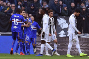 Fabio Quagliarella of Sampdoria celebrates after scoring a penalty (!-1) during the Serie A match between Juventus and UC Sampdoria on December 29, 2018 in Turin, Italy.