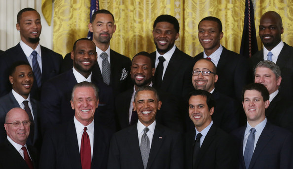 Barack Obama Meets with NBA Champions