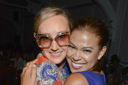 Designer Nikki Poulos and actress Toni Trucks attend the K. Nicole fashion show during Mercedes-Benz Fashion Week Spring 2015 at Pier 59 on September 11, 2014 in New York City.