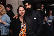 "Carol Lim (L) and Waris Ahluwalia attend KENZO, Humberto Leon, Carol Lim and Natasha Lyonne Premiere ""Cabiria, Charity, Chastity"" In New York City at Public Arts on September 13, 2017 in New York City."