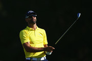 Alvaro Quiros of Spain tees off on the 10th hole during day one of the KLM Open at The Dutch on September 13, 2018 in Spijk, Netherlands.