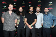 (L-R) Francois Comtois, Payam Doostzadeh, Sameer Gadhia, Jacob Tilley and Eric Cannata of Young the Giant attend KROQ Absolut Almost Acoustic Christmas at The Forum on December 9, 2018 in Inglewood, California.