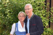 Franz Beckenbauer and Heidi Beckenbauer during a bavarian evening ahead of the Kaiser Cup 2019 on July 12, 2019 in Bad Griesbach near Passau, Germany.