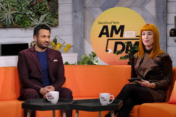 """Kal Penn Celebrities Visit BuzzFeed's """"AM To DM"""" - March 11, 2020"""