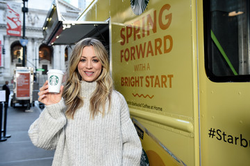 """Kaley Cuoco Starbucks """"Shine from the Start"""" Spring Campaign"""