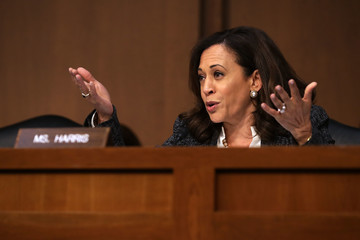Kamala Harris James Comey Testifies at Senate Hearing on Russian Interference in US Election