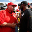 Mike Tomlin and Andy Reid Photos