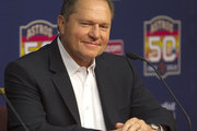 Scott Boras, agent of right-handed pitcher Lance McCullers, who was selected in the compensation first round (41st overall) of the 2012 MLB First Year Player Draft, is speaks during a press conference at Minute Maid Park on June 18, 2012 in Houston, Texas.