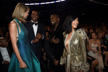 Kanye West Jay-Z The 57th Annual GRAMMY Awards - Backstage