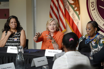 Karen Johnson Hillary Clinton Discusses Long-Term Care for the Elderly and Disabled at LA Union Event