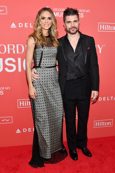 2018 MusiCares Person of the Year Honoring Fleetwood Mac - Arrivals [musicares person of the year,red carpet,clothing,carpet,premiere,fashion,dress,event,flooring,suit,formal wear,arrivals,karen martinez,juanes,radio city music hall,new york city,fleetwood mac,l]