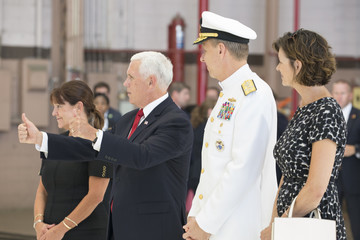 Karen Pence VP Pence Attends Repatriation Ceremony For Remains Of Possible Korean War Soldiers