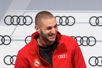 Karim Benzema Real Madrid Players Receive New Audi Cars