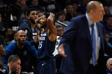 Karl-Anthony Towns Cleveland Cavaliers v Minnesota Timberwolves