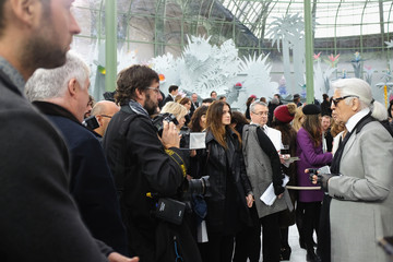 Karl Lagerfeld Front Row at Chanel