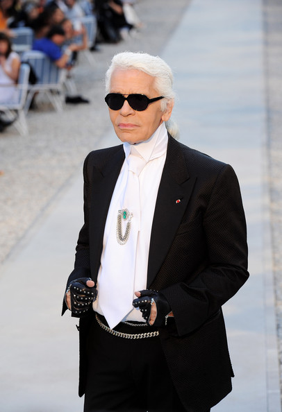 Karl Lagerfeld Designer Karl Lagerfeld attends the Chanel Collection Croisiere Show 2011-12 at the Hotel du Cap on May 9, 2011 in Cap d'Antibes, France.