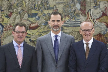 Karl-Thomas Neumann King Felipe VI of Spain Attend Audiences at Zarzuela Palace