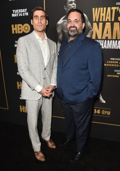 Premiere Of HBO's 'What's My Name: Muhammad Ali' - Arrivals [whats my name,premiere,suit,event,white-collar worker,facial hair,arrivals,muhammad ali,peter nelson,kary antholis,my name,regal cinemas l.a. live stadium,hbo,premiere,premiere]