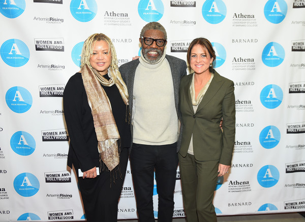 Opening Night of the Athena Film Festival [event,award,white-collar worker,business,cathy schulman,actors,vondie curtis-hall,kasi lemmons,l-r,new york city,barnard college,athena film festival]